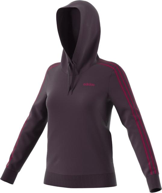 Women's 3-Striped Hoodie, Purple, swatch