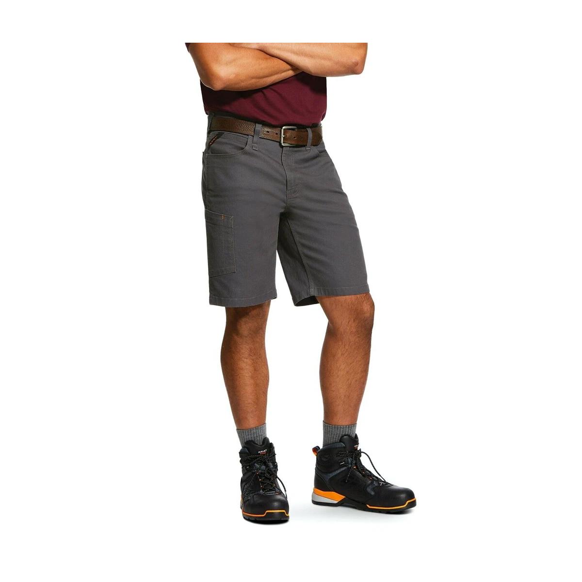 Men's Rebar  Made Tough DuraStretch Work Shorts, Dark Gray,Pewter,Slate, swatch