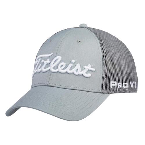 Men's Players Deep Back Golf Cap, Gray, swatch