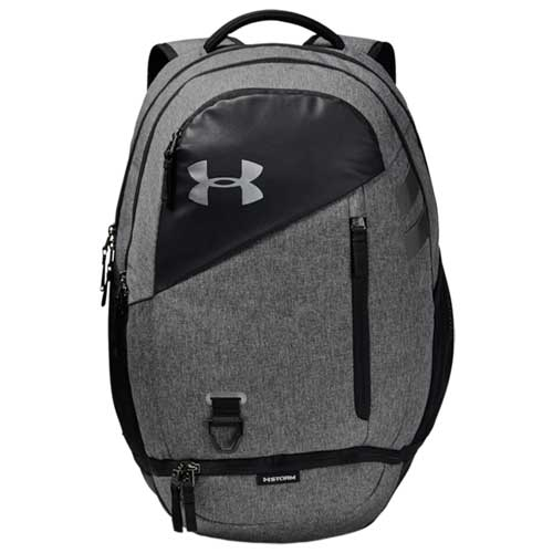Under Armour Hustle 4.0 Backpack, Heather Gray, swatch
