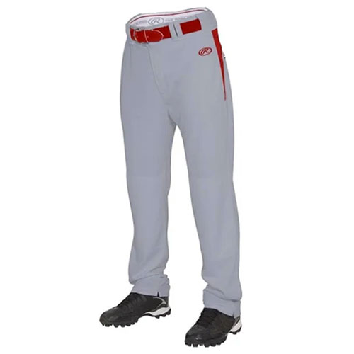 Men's BPVP2 Plated Baseball Pant, Gray/Red, swatch