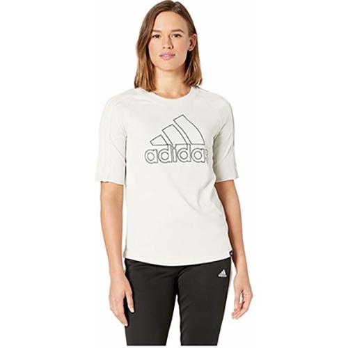 Women's Branded Baseball Tee, White, swatch