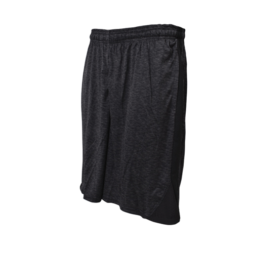 Men's Black Solid Triangle Basketball Shorts, , large