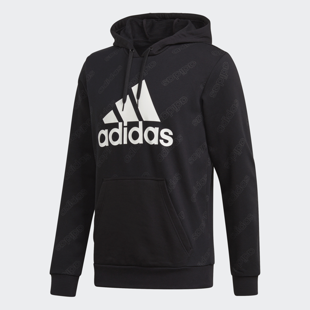 Men's French Terry Hoodie, Black, swatch