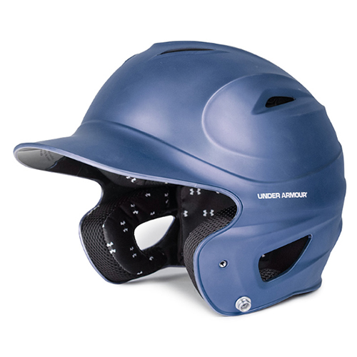 Classic Chrome Batting Helmet, Navy, swatch
