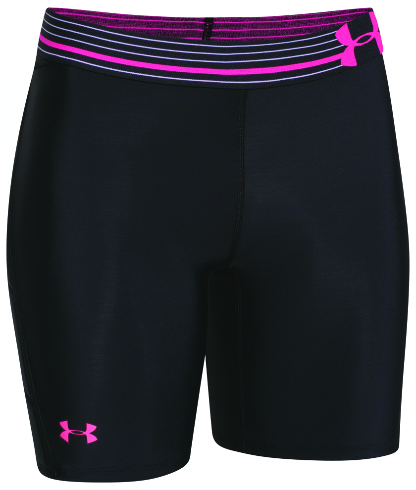 Women's Strike Zone Sliding Shorts, Black/Pink, swatch