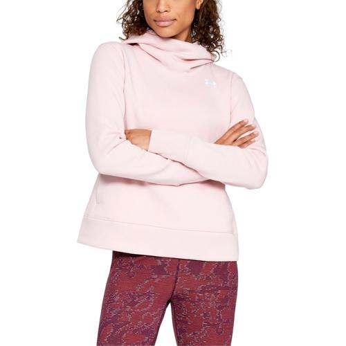 Women's Cotton Fleece Logo Hoodie, Pink, swatch