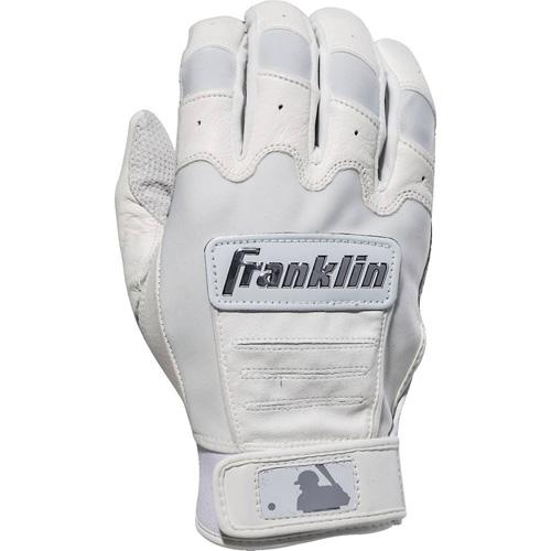 Men's MLB CFX Chrome Batting Gloves, White, swatch