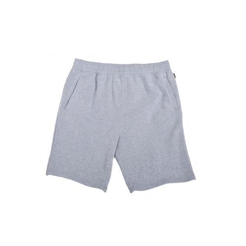 Men's Mid Weight Fleece Shorts, Heather Gray, swatch