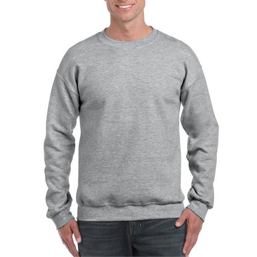 Men's Extended Size DryBlend Crewneck Sweatshirt, Gray, swatch