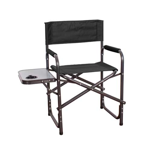 Directors Chair With Table, Black, swatch