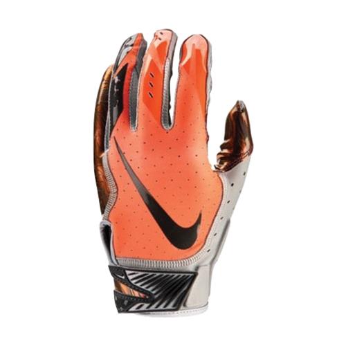 Men's Vapor Jet 5.0 Football Glove, Neon Orange, swatch