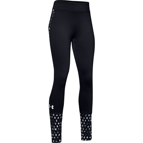 Girls' ColdGear Leggings, Black/White, swatch