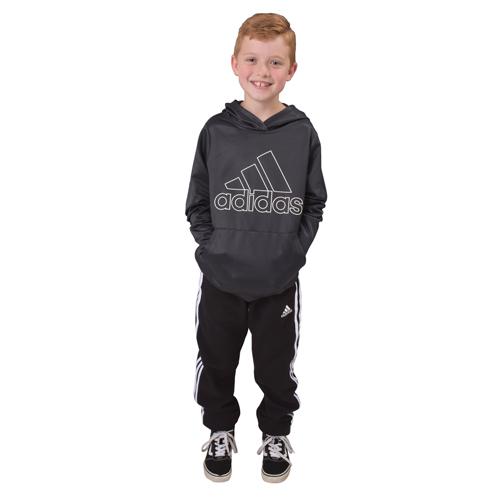 Boy's Cotton Fleece Jogger, Black, swatch