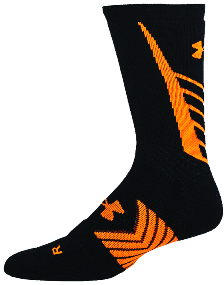 Men's Undeniable All Sport Crew Socks, Black/Orange, swatch