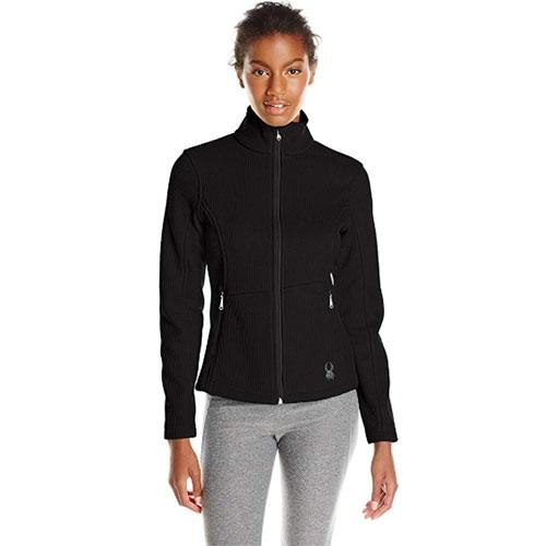 Women's Cora Full Zip Fleece, Black, swatch