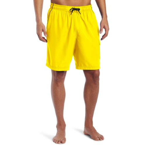 Men's Marina Volley Swimshorts, Gold, Yellow, swatch