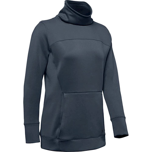Women's ColdGear Armour Hybrid Pullover, Heather Gray, swatch