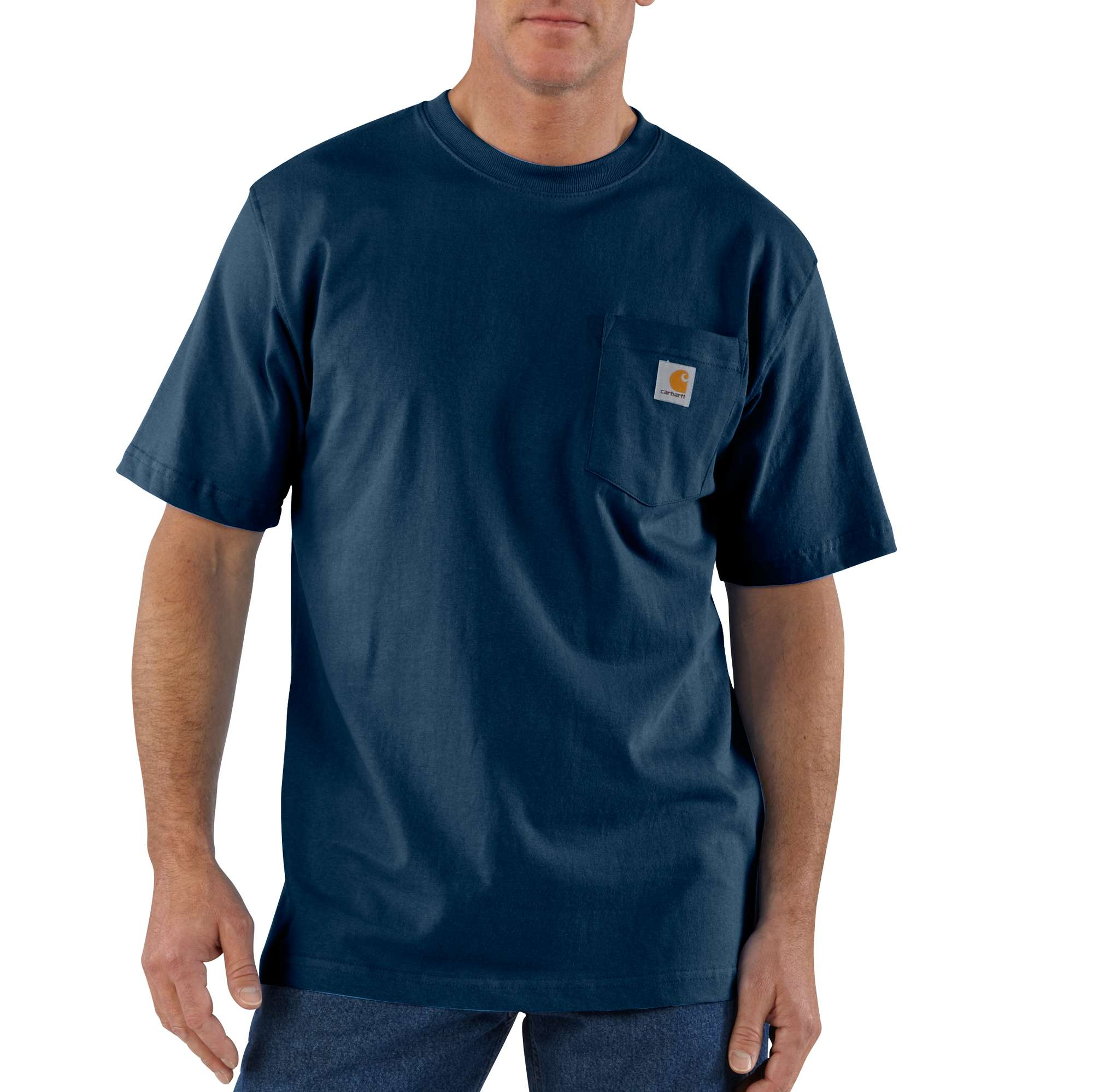 Men's Workwear Pocket Tee, Navy, swatch