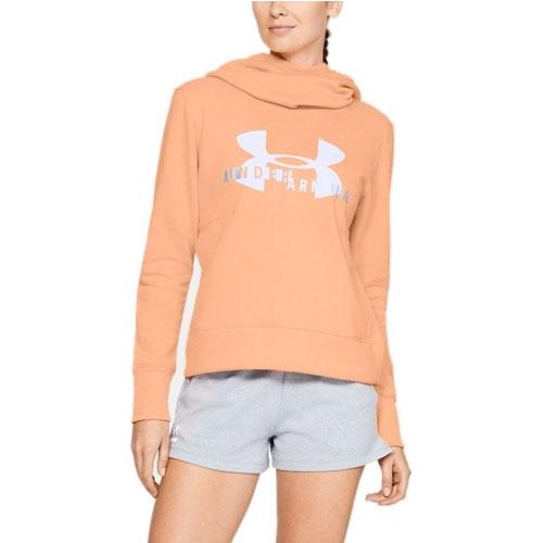 Womens Sportstyle Logo Hoodie, Peach, swatch