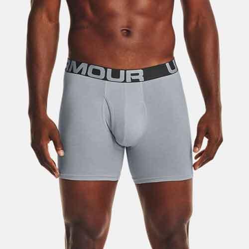 "Men's Charged Cotton 6"" Boxerjock 3-Pack, Gray, swatch"