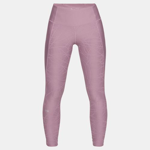 Women's HeatGear Armour Jacquard Ankle Crop, Purple, swatch