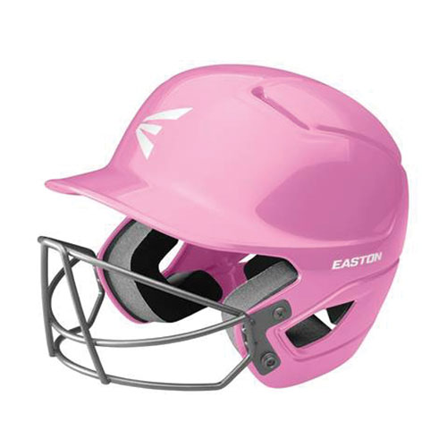 Tee Ball Alpha Fast Pitch Helmet with Mask, Pink, swatch