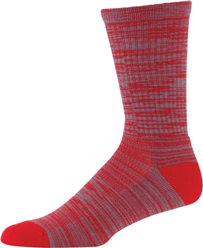 Men's Twist Tech Crew Socks, Red, swatch