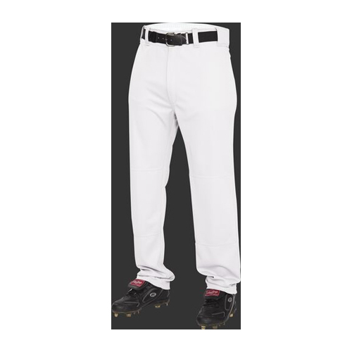 Adult BP31 Semi-Relaxed Baseball Pant, White, swatch