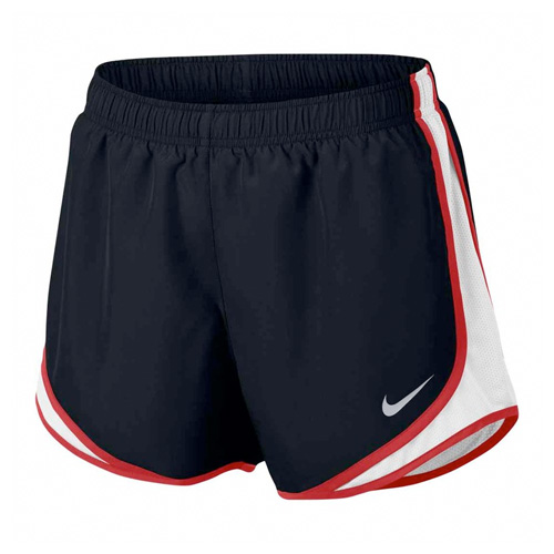 """Women's 3"""" Dry Tempo Core Running Shorts, Black/Red, swatch"""