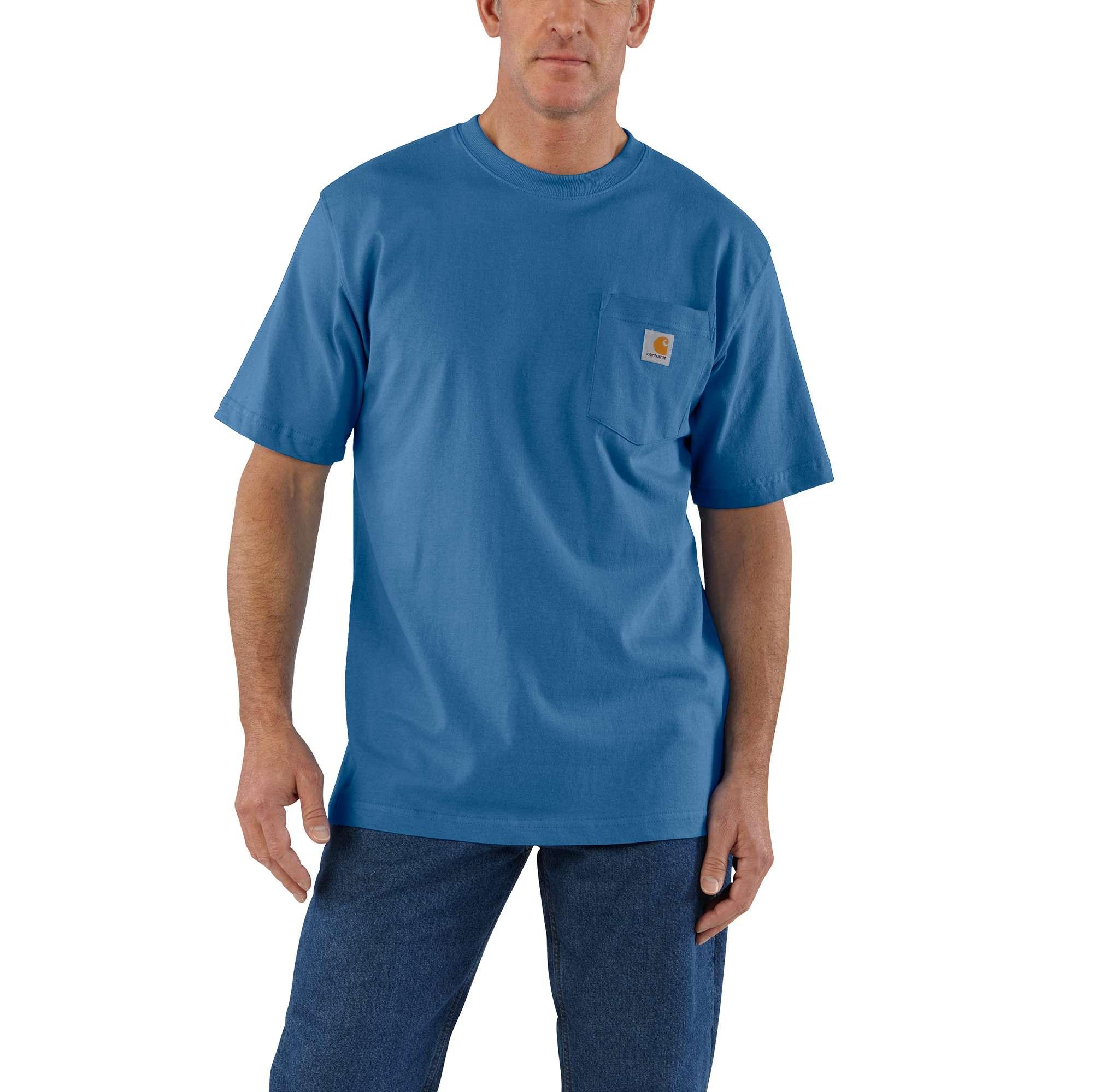 Men's Workwear Pocket Tee, Royal Blue/Navy, swatch