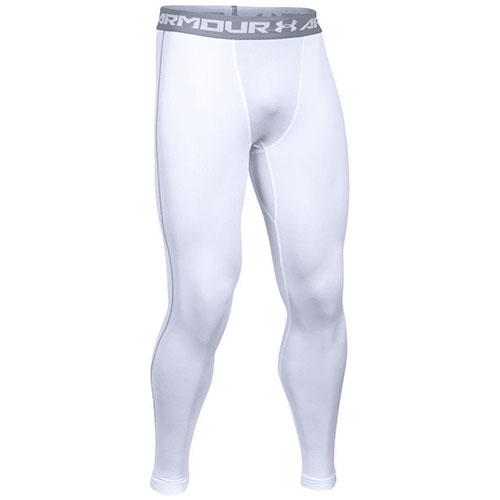 Men's HeatGear 2.0 Leggings, White, swatch