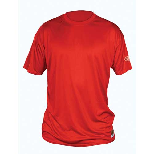Solid Short Sleeve Shirt, Red, swatch