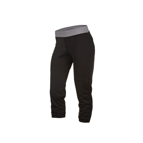 Women's Pitch Out Yoga Fast Pitch Pant, Black/Gray, swatch