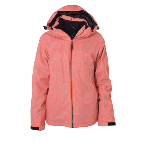 Women's Ivy 3 In 1 System Ski Jacket, Coral, swatch