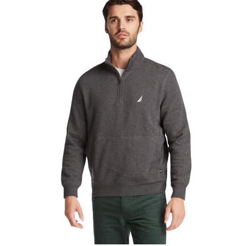 Men's 1/4 Zip Fleece, Charcoal,Smoke,Steel, swatch