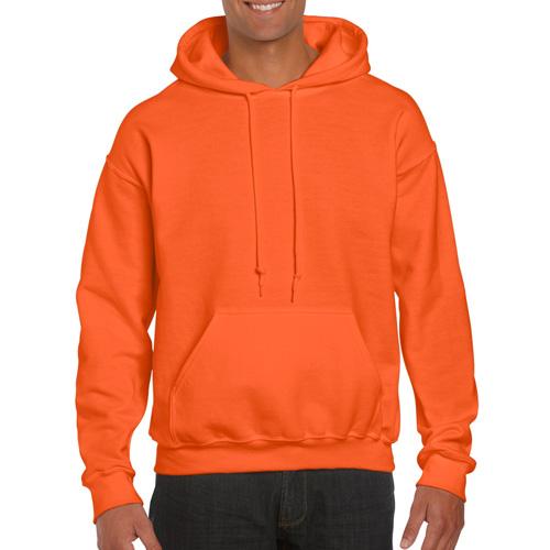 Men's Extdended Sizes Long Sleeve Hoodie, Orange, swatch