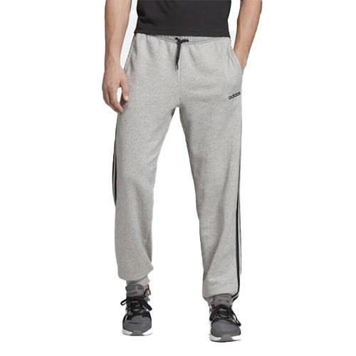 Men's Essentials 3-Stripes Fleece Pant, Heather Gray, swatch