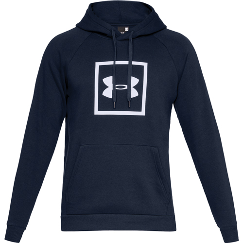 Men's Rival Fleece Logo Hoodie, Navy, swatch