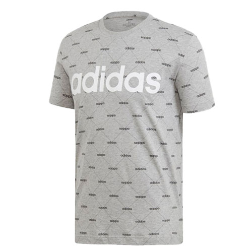 Men's Linear Graphic Tee, Heather Gray, swatch