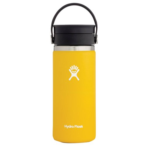 16oz Wide Mouth With Flex Sip Lid, Sunflower, swatch