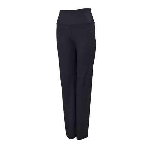 Women's High Waist Lux Straight Leg Yoga Pants, Black, swatch