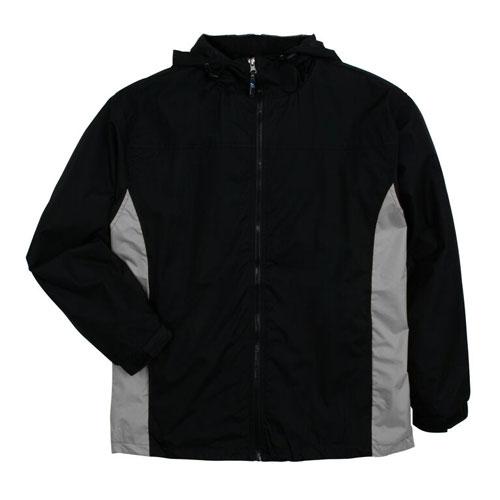 Men's Lightweight Rain Jacket, Black/Gray, swatch