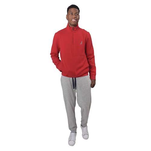 Men's 1/4 Zip Fleece, Red, swatch