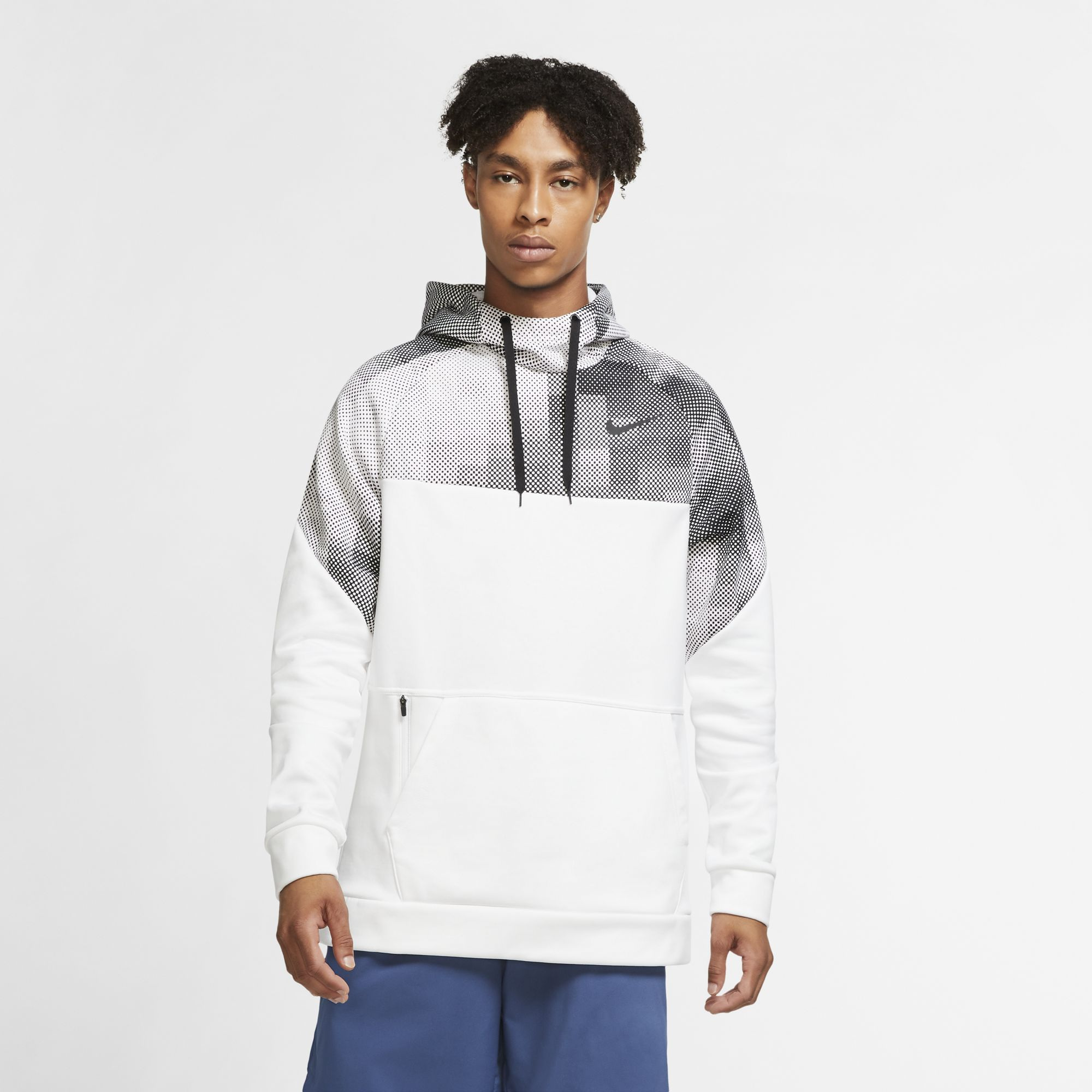 Men's Therma Pullover Hoodie, White, swatch