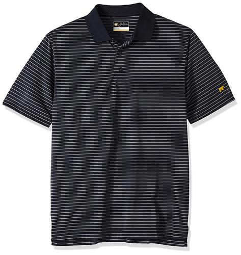 Men's Striped Polo, Black, swatch
