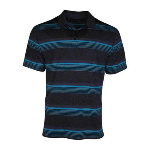 Men's Playoff Golf Polo, Black, swatch
