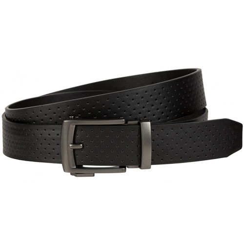Men's Perforated Acu-Fit Golf Belt, Black, swatch