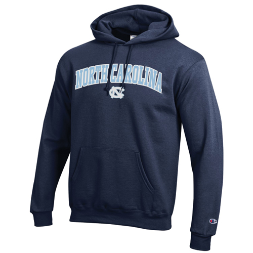 Men's North Carolina Tackle Twill Hoodie, Navy, swatch