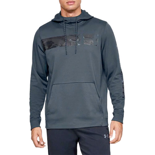 Men's Hunt Armor Fleece Hoodie, Dk Gray/Black, swatch